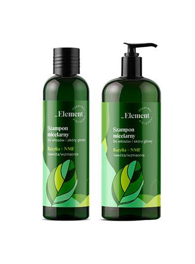 Element bazylia - szampon micelarny