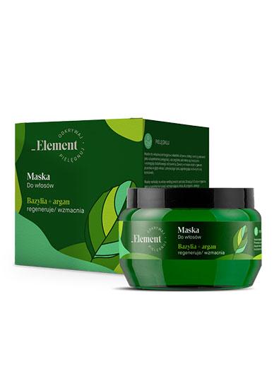 Element bazylia - maska do włosów